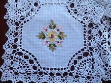 """6 pieces  10""""  Square  Crochet Lace Doily COLOR White  100 % COTTON"""