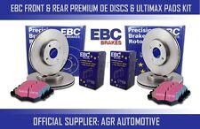 EBC FRONT + REAR DISCS AND PADS FOR CITROEN C4 1.6 TD (ESP) 110 BHP 2004-09