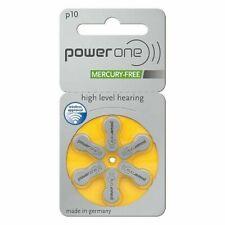 Lot of 30 P10 Powerone Zinc Mercury Free Hearing Aid Batteries Made in Germany