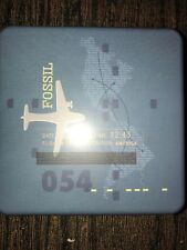 FOSSIL AIRPLANE TIN BOX FOR MENS WALLET (TIN ONLY)