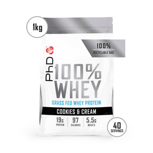 PhD Nutrition 100% Whey Protein 1kg (Choose Flavour)