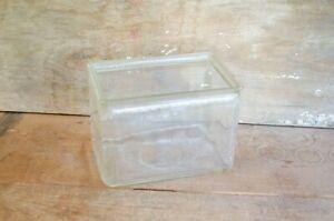 """Antique Clear Glass Car Battery Box Fish Aquarium Terrarium 10x6x7"""""""