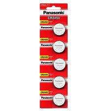 Panasonic CR2450 ECR 2450 3v LITHIUM Coin Cells (10 Batteries)