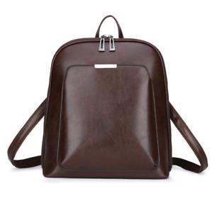 Solid Women Backpack Female Feminine Casual Large Capacity Vintage Shoulder Bags
