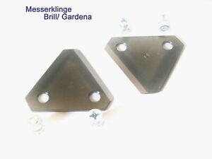 2 x Rasenmäher Messer Brill Brill Hattrick, Gardena Messerklinge B00002