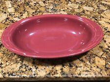 Longaberger Paprika Red Oval Serving Baking Casserole Bowl Dish
