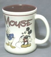 "OFFICIAL MICKEY MOUSE STORE Glass Coffee Mug 4 1/2"" Inch Tall Highly Collectible"