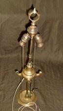 """VINTAGE ANTIQUE LUCERNE WHALE OIL LAMP 4 SPOUT 3 TOOL BRASS 27"""" ELECTRIC LIGHT"""