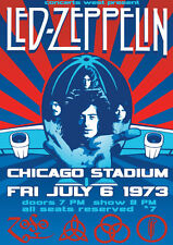 Led Zeppelin Chicago 1973 Repro Tour POSTER