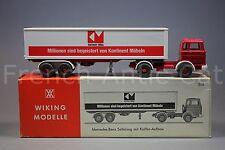 U544 Wiking modeller Mercedes  sattelzug Koffer Aufbau 513 ho camion