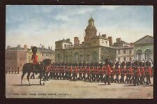 Military HORSE GUARDS PARADE March Past  Whitehall Oilette PPC