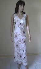 HOBBS Designer Maxi  Dress.  Linen.  Gorgeous Evening / Cocktail Party.   SIZE 8