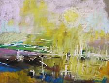 ORIGINAL Abstract LANDSCAPE Pastel Painting John  Williams art JMW Expressionism