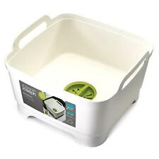 Joseph Joseph Wash & Drain Strain Washing Up Sink Bowl w/ Removeable Plug, White