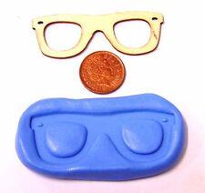 Gafas Lentes Ojos Reutilizables Molde de Silicona Pastelería Joyas tarjeta Topper Alimentos Seguros