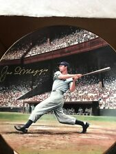 Joe DiMaggio signed numbered plate 3140/5000 with COA New York NY Yankees