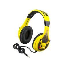 eKids Pokemon Pikachu Kids Headphones for Kids Adjustable Stereo Tangle-Free ...