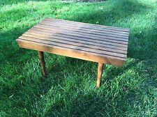 Mid Century Petite Slat Bench