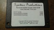 Kurzweil ~ New Old Stock ~ ELECTRONIC VOCALS KZ2B ~ Kurzweil V.A.S.T Programs!!!