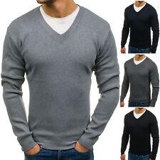 BOLF Herren Pullover Strickjacke Strickpullover Sweater Pulli V-Neck 5E5 Motiv