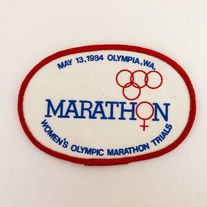 Vintage 1984 FIRST WOMEN'S OLYMPIC MARATHON TRIALS PATCH - Olympia, Washington