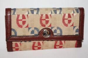 NWT ETIENNE AIGNER - Golden Brown Logo Wallet w/ Brown Leather Trim & Interior