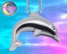 New Dolphin Urn Cremation Pendant Ash Silver Memorial Necklace