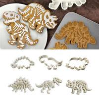1/3pcs Dinosaur Cookie Cutter Biscuit Fondant Cake Mould Decorating Baking Tool