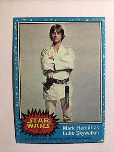1977 Topps STAR WARS Series #1 Blue-57-Mark Hamill As Luke Sky walker PSA READY