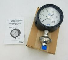"WIKA Type 990.34 Xsel Process Gauge Diaphragm 316LSS 0-100PSI 4-1/4"" Face NOS"