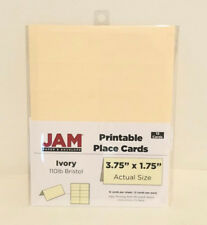 "JAM Printable Place Cards - 3 3/4"" x 1 3/4"" - Ivory 110lb Bristol - 12/pack"