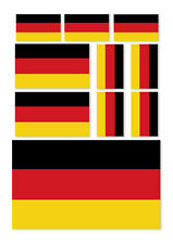 10 X GERMAN FLAG VINYL CAR VAN IPAD LAPTOP STICKERS