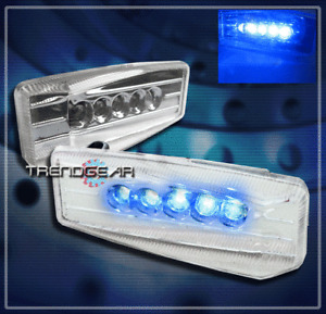 UNIVERSAL FENDER BLUE LED SIGNAL SIDE MARKER LIGHT ACURA AUDI BMW CADILLAC CHEVY