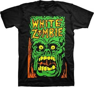 New Men's Adult White Zombie Rob Zombie Monster Yell  Printed Cotton T-Shirt XL