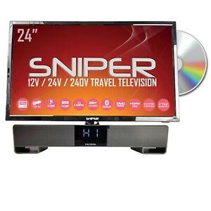 24″ HD LED Travel TV, built in DVD, Sat, Freeview, BT5.1 + Bluetooth Soundbar