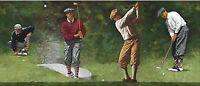 BTF 15 Feet of Vintage Golfers Wallpaper Border IN2650B