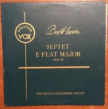 Pro Musica Chamber Group on Polydor Vox PLP6460: Beethoven Septet in E flat