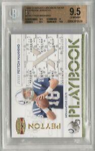 Peyton Manning 2008 Donruss Gridiron Gear Jersey Patch #/250 BGS 9.5 GEM *POP 1*