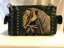 Western Horse Handbag - Conceal Carry Tooled Tote