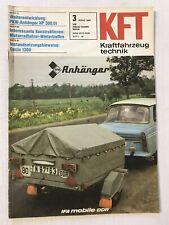 Kraftfahrzeugtechnik KFT 03/1981 Anhänger HP 300.01, Dacia 1300 DDR Zeitschrift