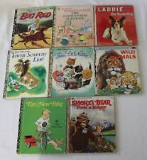 VINTAGE 60s 70s 80s LOT of 8 LITTLE GOLDEN BOOKS Childrens Picture Stories #B