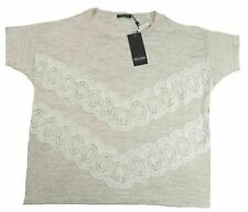 1X Plus Women's Point Zero Curvy Short Sleeve Knit Shirt with Lace Accent NEW