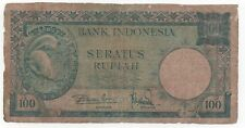INDONESIA 100 RUPIAH 1957 PICK 51 LOOK SCANS
