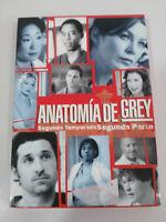 ANATOMIA DE GREY SEGUNDA TEMPORADA 2 - SEGUNDA PARTE 4 X DVD ESPAÑOL ENGLISH