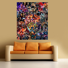 Marvel avengers Large Poster Wall Art Print Deco Home -  A0 A1 A2 A3 A4