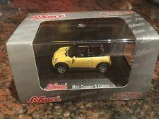 1/87 Scale Schuco Mini Cooper S Cabrio In Yellow