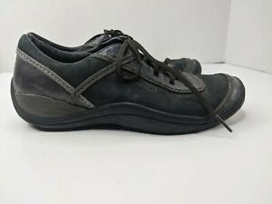 Merrell Women's Sz 8 Cypress Black Suede Leather Lace Up Hiking Sneaker Shoes