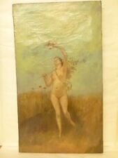 ZO Achille-Henri - FEMME NUE A LA MANDOLINE - art XIX/XXe, peinture, huile, nus