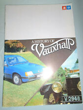 A History of Vauxhall brochure Jan 1980