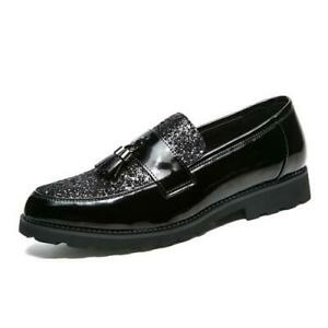 Mens Low Top Faux Leather Business Leisure Shoes Pointy Toe Oxfords Slip on 44 L